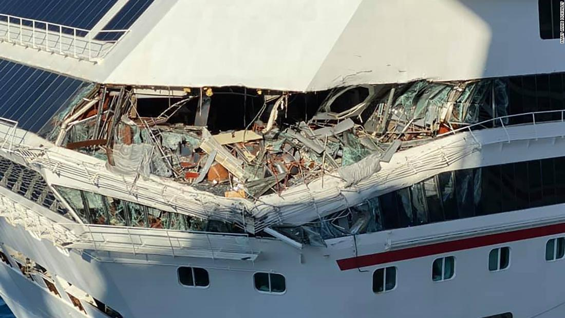 Two Carnival cruise ships collided in Cozumel, Mexico