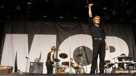 Gerard Way of My Chemical Romance at a 2012 concert in Australia. The band reunited December 20, 2019, in Los Angeles, California.