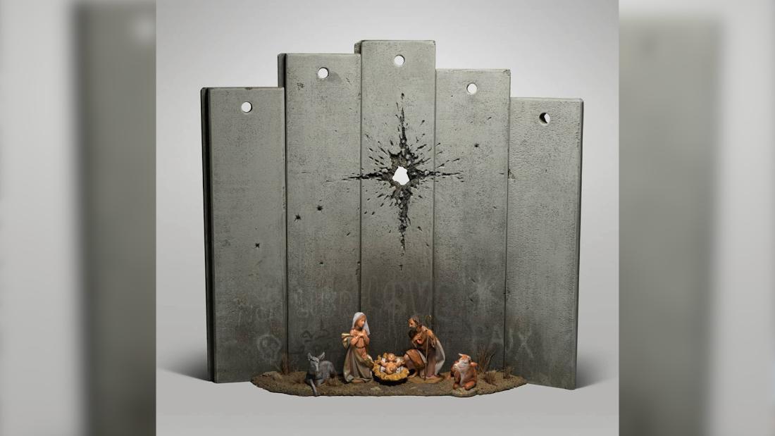 Banksy nachempfunden Geburtskirche in Bethlehem