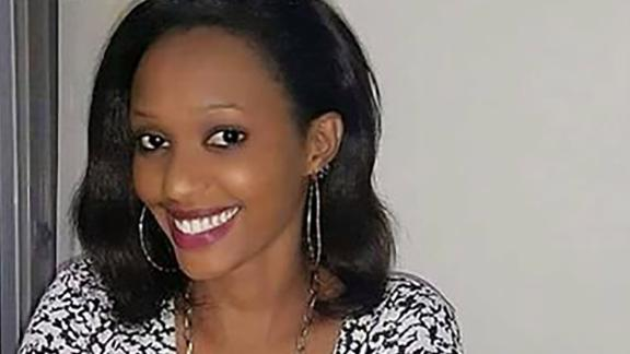 His family say Jackie Umuhoza's father faces accusations of working with a rebel group to overthrow the president of Rwanda.