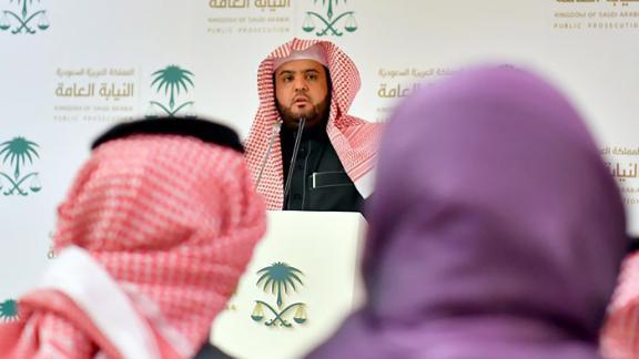 Saudi Deputy Public Prosecutor and spokesman Shalaan al-Shalaan in Riyadh.