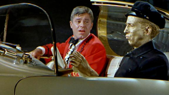 """""""Cinderfella"""": The late Jerry Lewis plays a hard-working and honest lad mistreated by his wicked stepmother and his two boorish stepbrothers in this 1960 film. But miracles do happen when his Fairy Godfather transforms the klutzy fella into an eligible, handsome bachelor, ready to win the hand of a suitable Princess Charming. (Amazon Prime, Hulu)"""