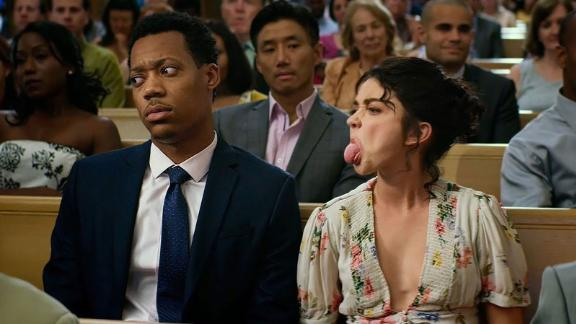 """""""The Wedding Year"""": Tyler James Williams and Sarah Hyland star in this comedy about a commitment-phobic 27-year old whose relationship is put to the test when she and her boyfriend attend seven weddings in the same year. (Amazon Prime)"""