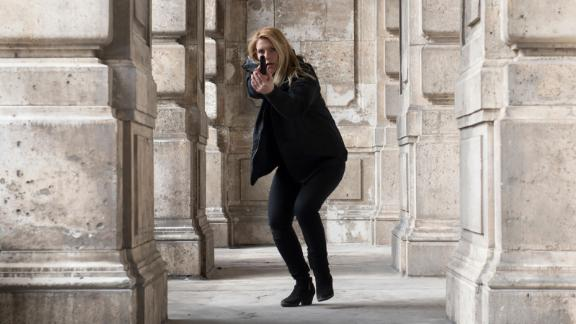 """""""Homeland"""" Seasons 6 and 7: CIA officer Carrie Mathison (Clair Danes) is volatile and unpredictable in this dramatic series in which she fearlessly risks everything, including her sanity. (Hulu)"""