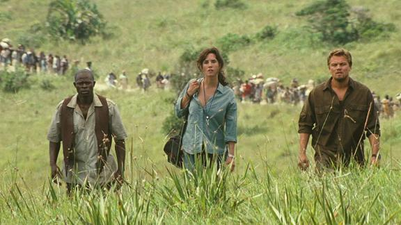 """""""Blood Diamond"""": Djimon Hounsou, Jennifer Connelly and Leonardo DiCaprio star in this thriller about a group who match wits over the possession of a priceless diamond. (Hulu)"""