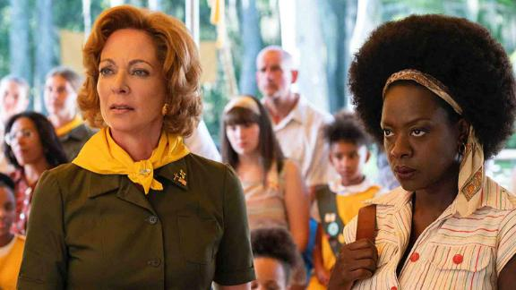 """""""Troop Zero"""": Allison Janney and Viola Davis star in this story of a misfit girl dreaming of life in outer space but living in rural 1977 Georgia. When a national competition offers her a chance at her dream, to be recorded on NASA"""