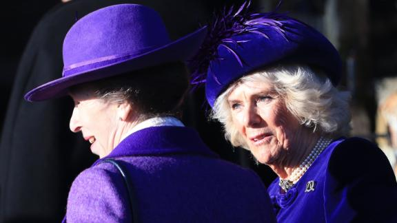 Princess Anne and Camilla, Duchess of Cornwall, on Wednesday.