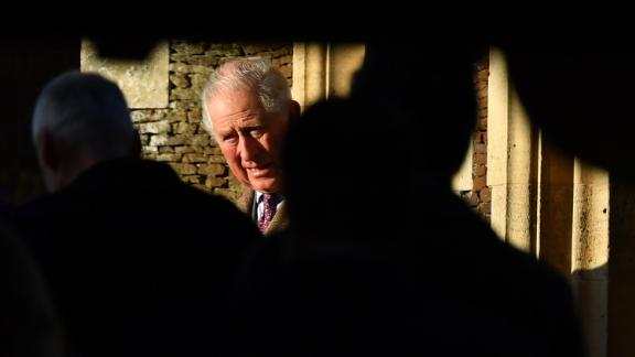Britain's Prince Charles arrives for the Royal Family's traditional Christmas Day service.