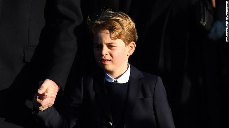 It was the first appearance for six-year-old Prince George at the royal family's traditional Christmas Day service.