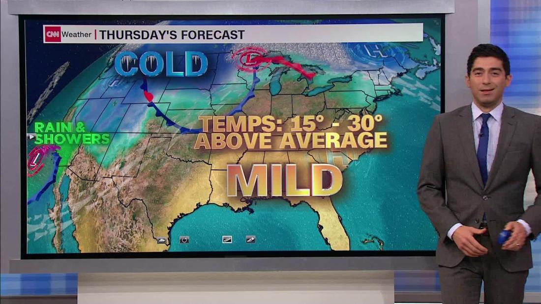 Unseasonably warm for the first full week of winter