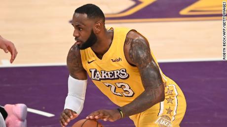 LeBron James during the Christmas Day game between the Clippers and Lakers at the Staples Center.