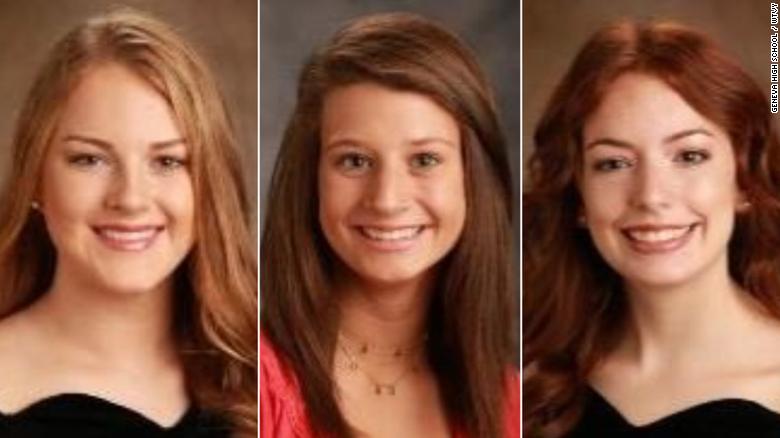 High school students Addyson Martin, Cassidy Dunn and Emilee Fain died in a car crash on Christmas Day.