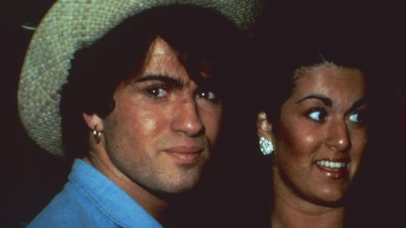 George Michael with his sister, Melanie Panayiotou during the 1980s.