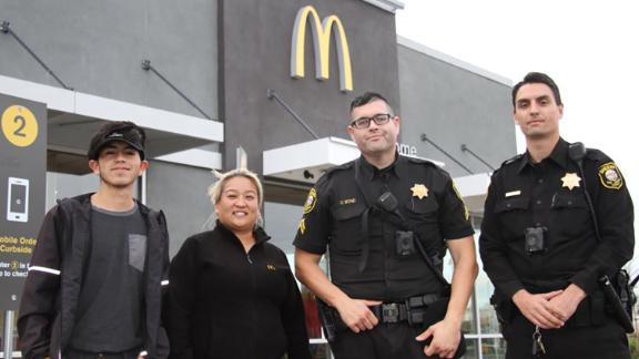 A victim is safe thanks to the McDonald