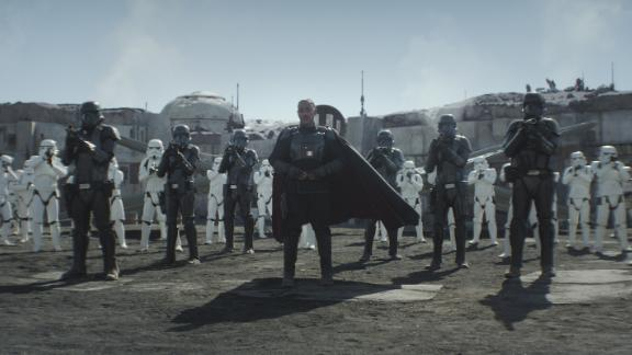 """Mof Gideon (Giancarlo Esposito) and his band of storm troopers and death troopers had our heroes pinned down in the season finale of """"The Mandalorian."""""""
