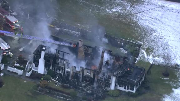Firefighters fought the blaze for more than six hours before putting it out.