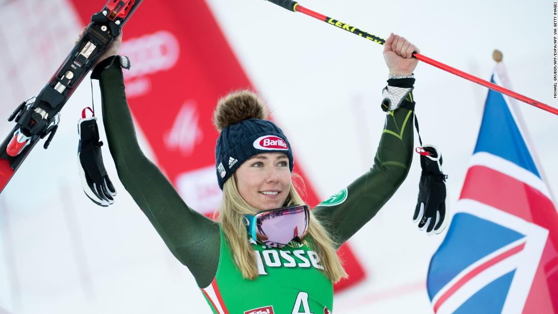 Mikaela Shiffrin moves into second behind Lindsay Vonn with her 63rd World Cup skiing win