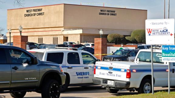 Law enforcement responded in force to the shooting at West Freeway Church of Christ.