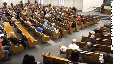 Video shows gunman open fire inside church