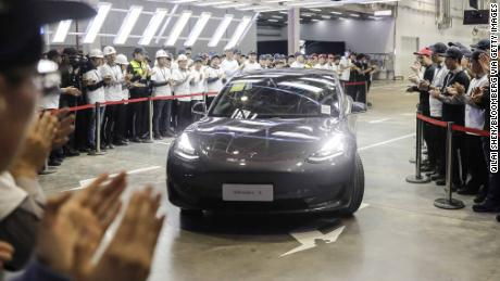 Tesla delivers first China-made Model 3s to its own workers