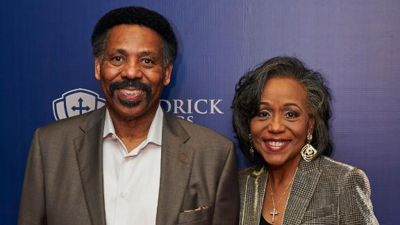 Tony Evans and Lois Evans on August 13, 2019, in Dallas, Texas.