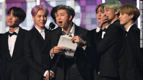 BTS presenting the award for Best R&B Album at the 2019 Grammy Awards. And further proof that they've broken into the US market.