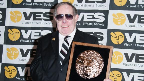 Syd Mead wins the Visionary Award at the 14th Annual Visual Effects Society Awards on February 2, 2016, in Beverly Hills, California.