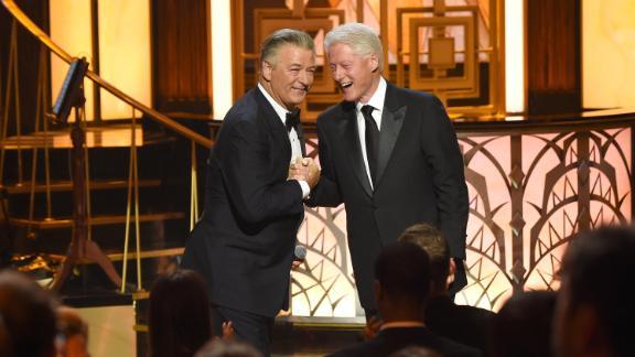 Clinton attends Alec Baldwin