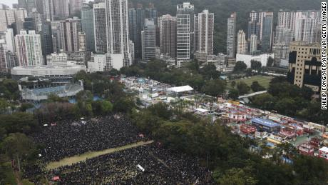 Hong Kong New Year's Day march called off after bricks and petrol bombs thrown