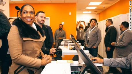 Illinois Lt. Governor Juliana Stratton was among hundreds of early-morning customers at a Chicago marijuana dispensary on the first day of legal recreational sales in the state.