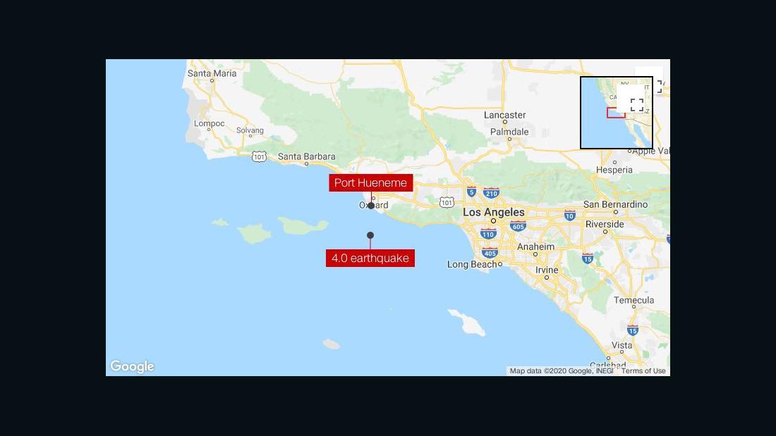 4.0の大地震に軽く揺れる、ロサンゼルス地域