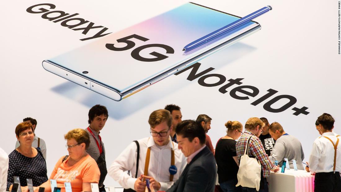 サムスンの販売は67百万5Gスマートフォン2019年