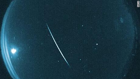 A long exposure of the Quadrantid meteor shower.