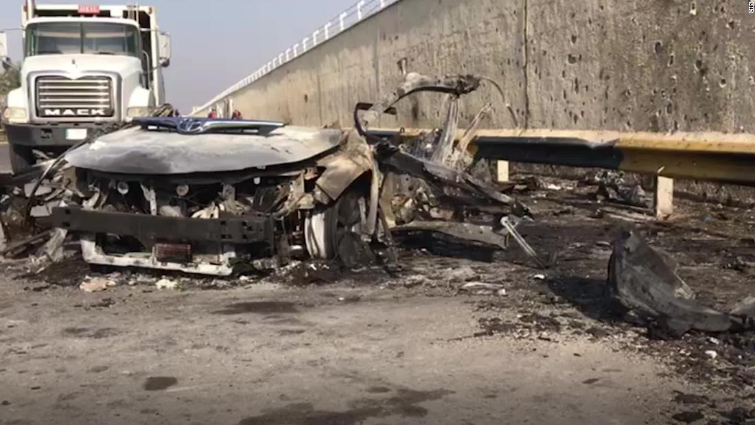 See aftermath of deadly US airstrike