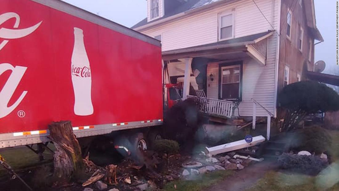 A Coca-Cola semi-truck crashed into a Pennsylvania home thumbnail