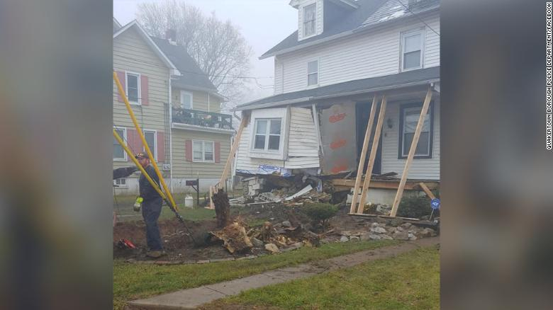 The home suffered extensive damage.