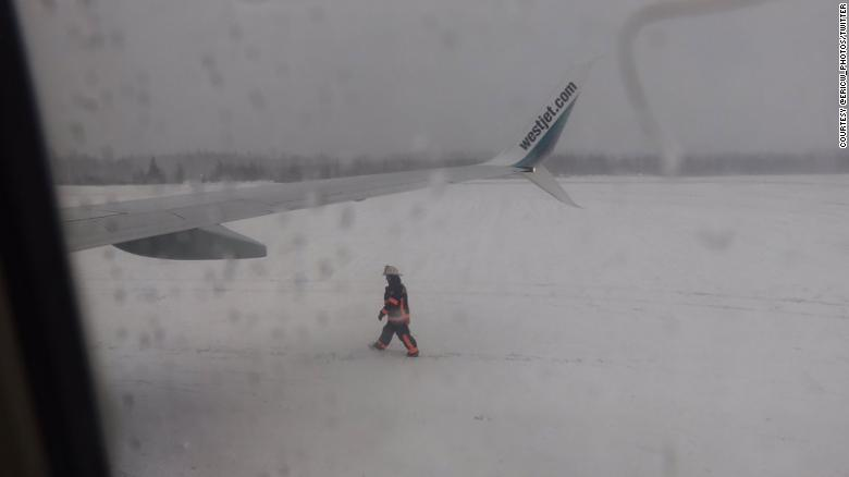 Canadian passenger plane slides off the runway