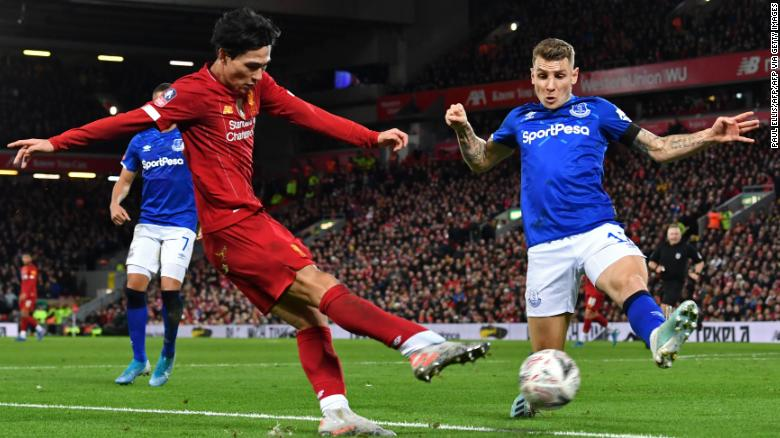 Japanese midfielder Takumi Minamino made his first appearance for Liverpool since signing from Red Bull Salzburg.