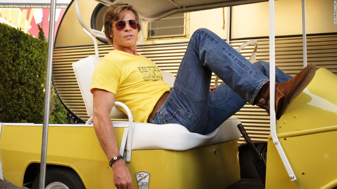 "<strong>Best supporting actor in a motion picture:</strong> Brad Pitt, ""Once Upon a Time in Hollywood"""