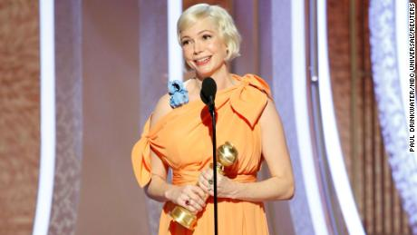 Michelle Williams at Sunday's Golden Globes