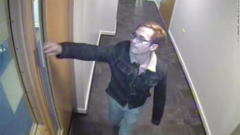 Sinaga leaving his apartment building to prowl for victims, in CCTV footage released by police.