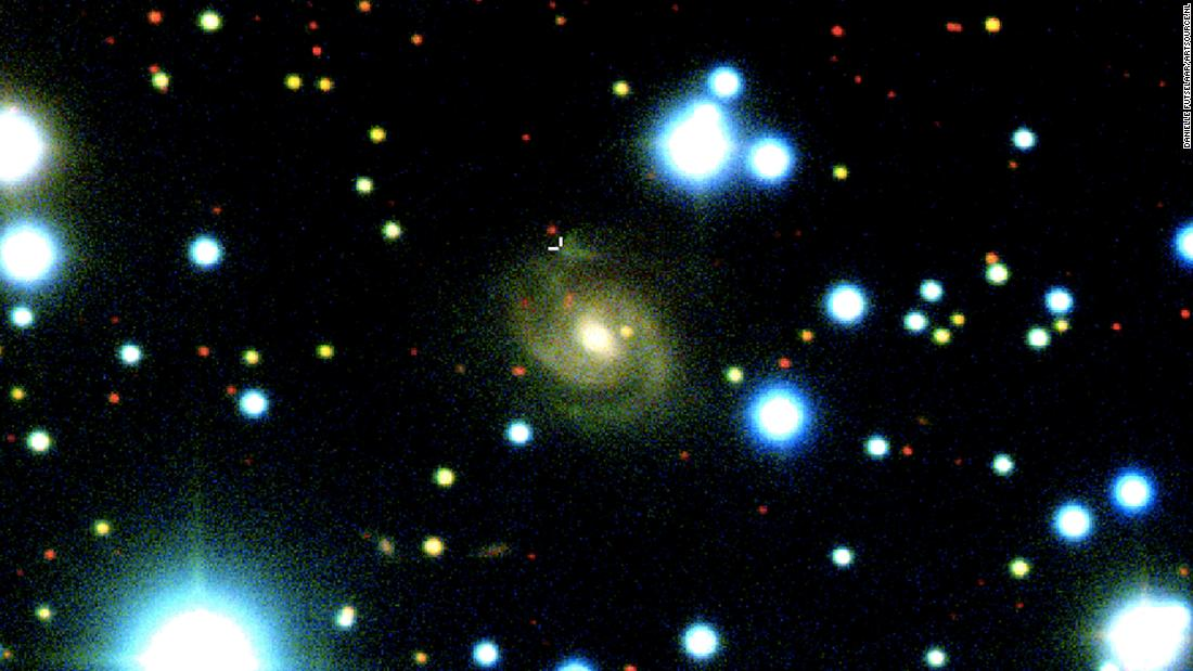 The host galaxy of a newly traced repeating fast radio burst acquired with the 8-meter Gemini-North telescope.