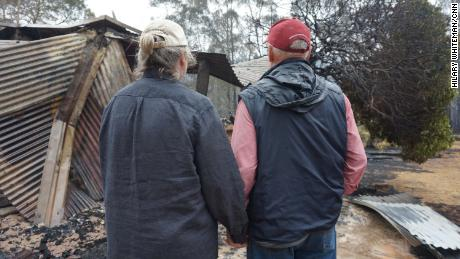 Julie-Ann Grima and Bruce Honeyman lost their home 10 years to bushfires that swept through their property in Pericoe, Australia.