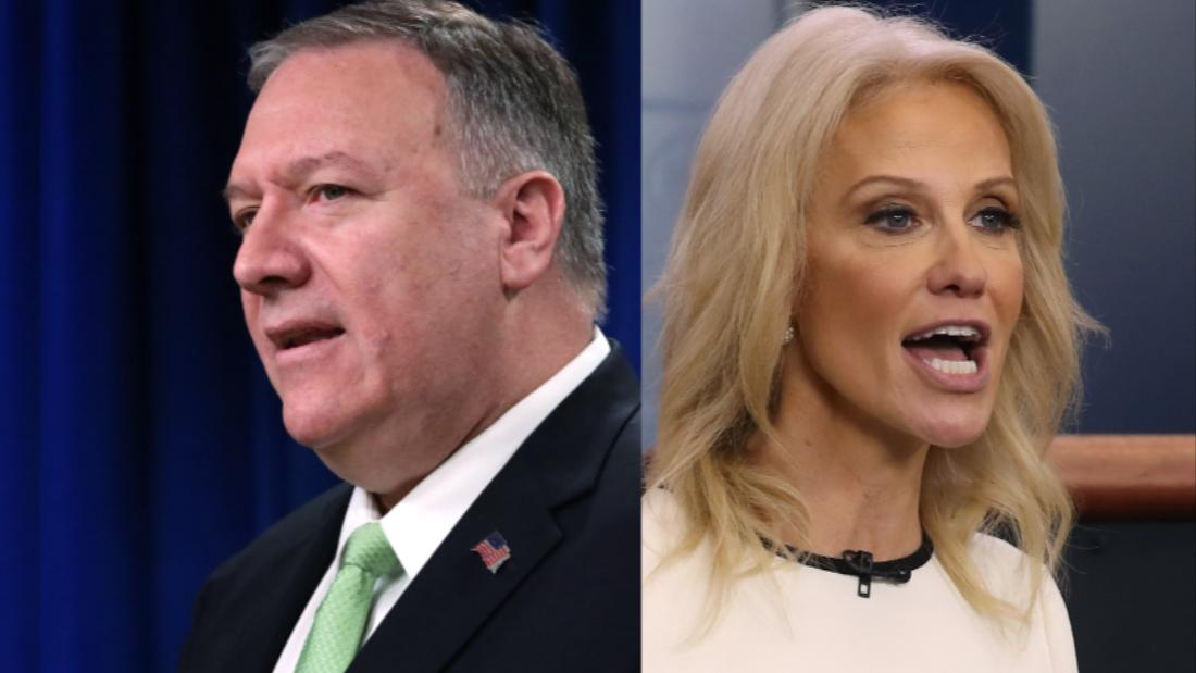 See how Pompeo and Conway tried to defend Trump's threat