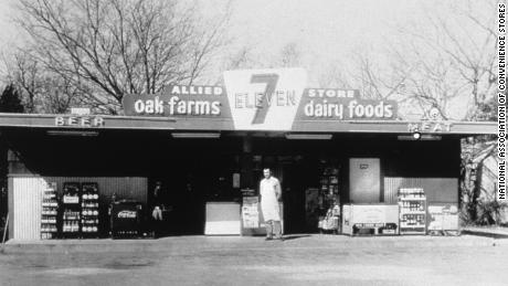 An undated photo by 7-Eleven. The first grocery store in America opened in 1927. Today there are approximately 153,000 in the United States.