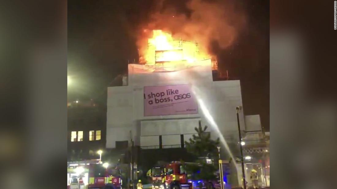 Iconic music venue in London where Prince and Madonna performed engulfed in flames