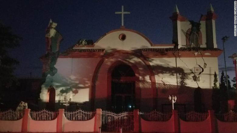 The Inmaculda Concepion church in Guayanilla, Puerto Rico, was damaged in Tuesday's 6.4 magnitude quake.