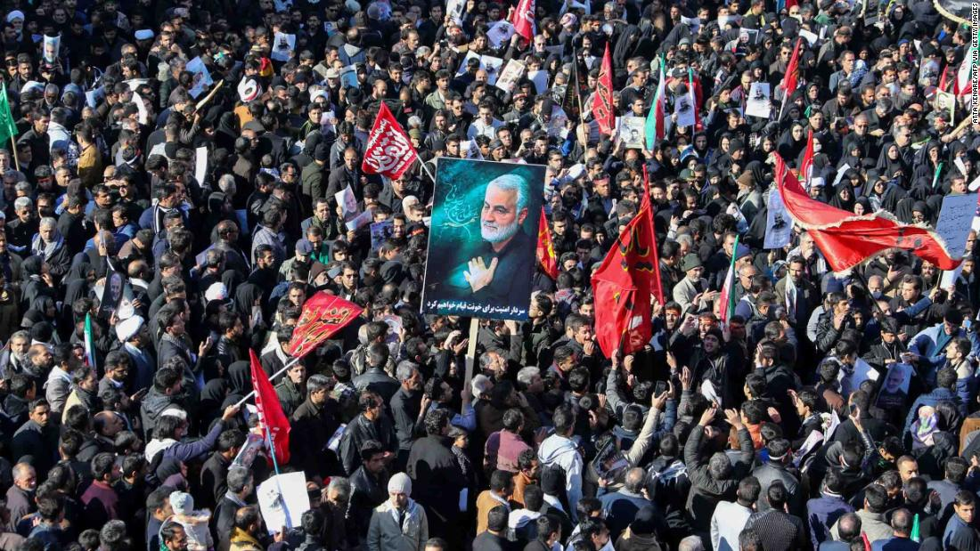 Soleimani buried in hometown hours after Iran retaliation thumbnail