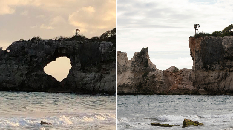 The Punta Ventana stone arch -- a major tourist attraction in the Guayanilla area -- collapsed Monday.