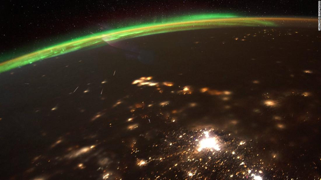 NASA astronaut shares beautiful image of 2020's first meteor shower
